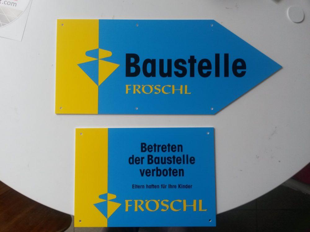 Bautafel Fröschl