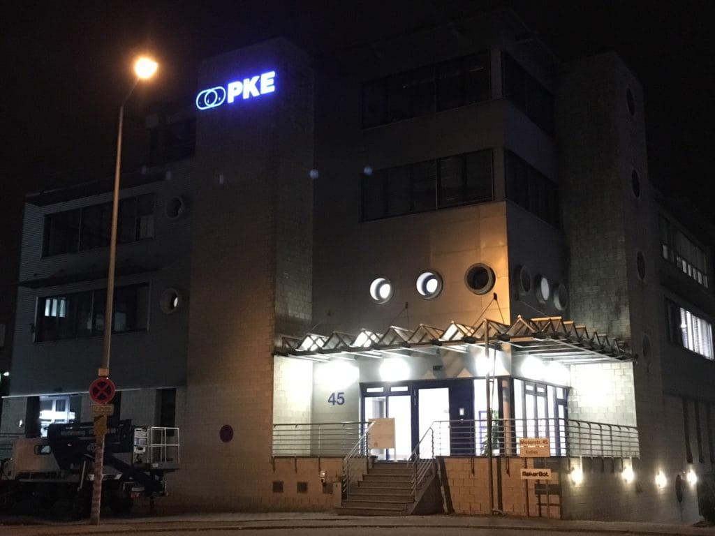 PKE Leuchtschrift